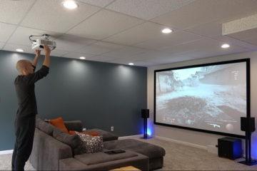 instalacion proyuector y pantalla smart soportes